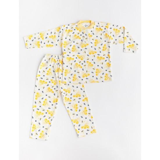 pijama aselina imprimeu galben