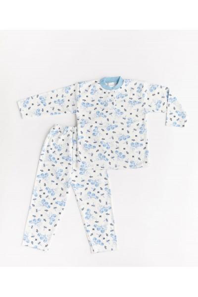 Pijama aselina imprimeu bleu