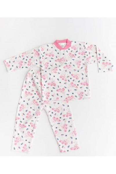 Pijama aselina imprimeu roz