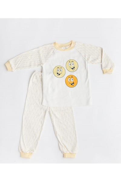 pijama GinGin cu imprimeu galben