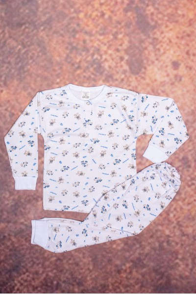 Pijama copii baby confex subtire model albastru