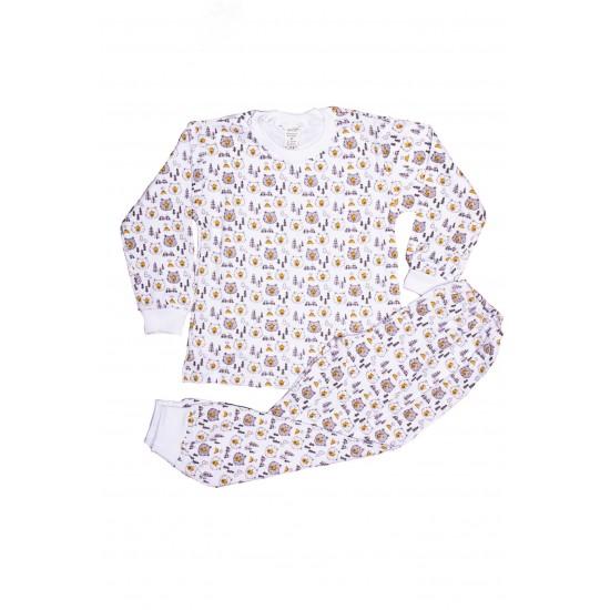 Pijama copii azuga imprimeu cap urs