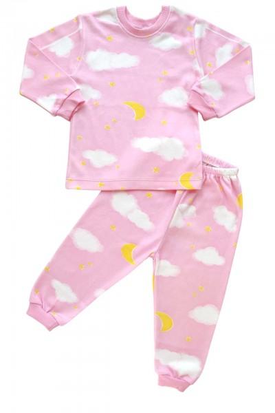 Pijamale bumbac copii norisor roz