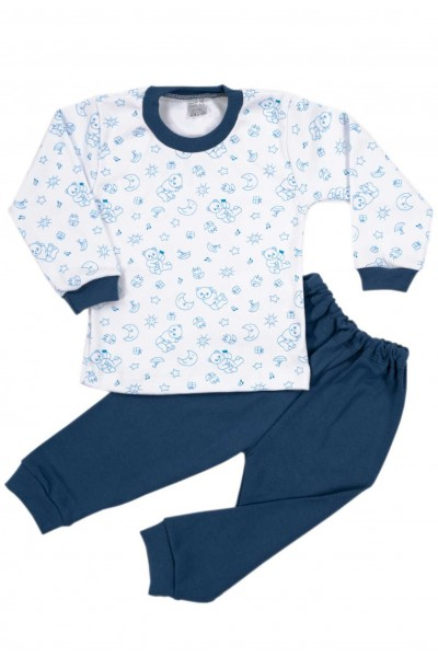 Pijamale copii bumbac irs ursuleti bleumarin