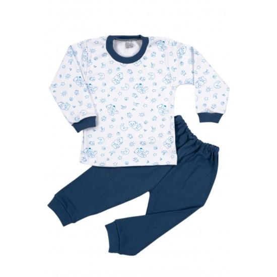 Pijamale copii bumbac iris ursuleti bleumarin