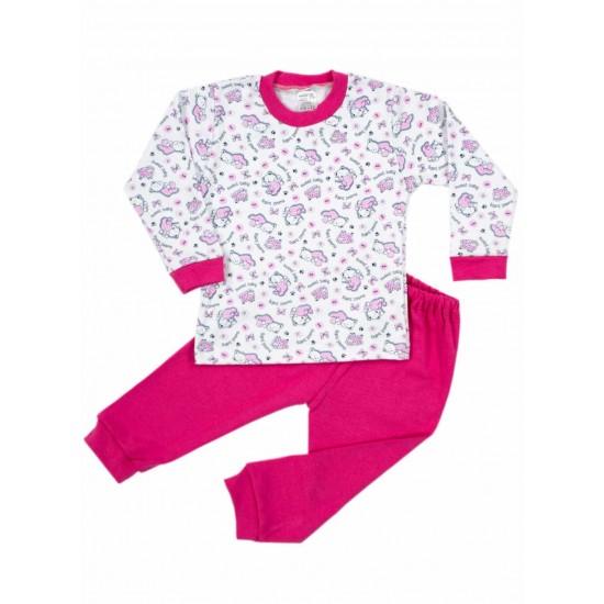 Pijamale copii bumbac irs ursuleti roz cyclame