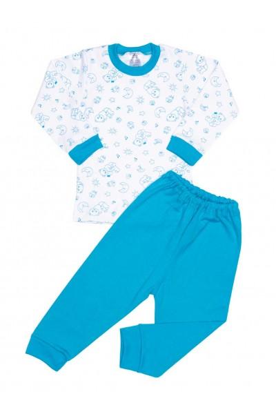 Pijamale copii bumbac irs ursuleti turcoaz