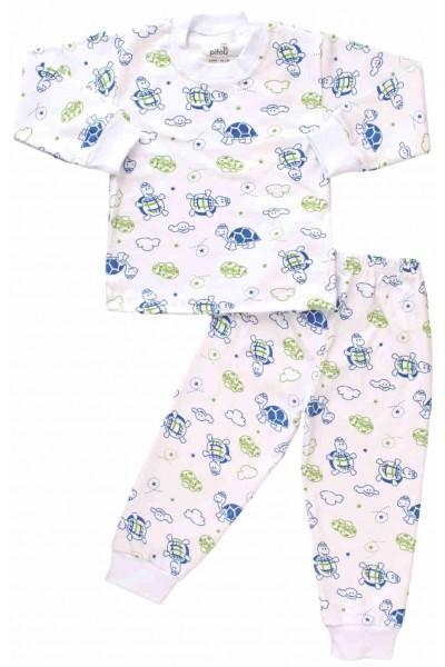pijamale copii bumbac testoase