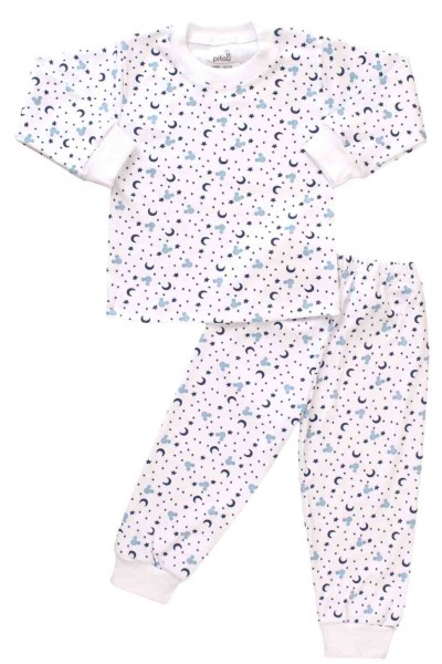 pijamale copii bumbac semiluna