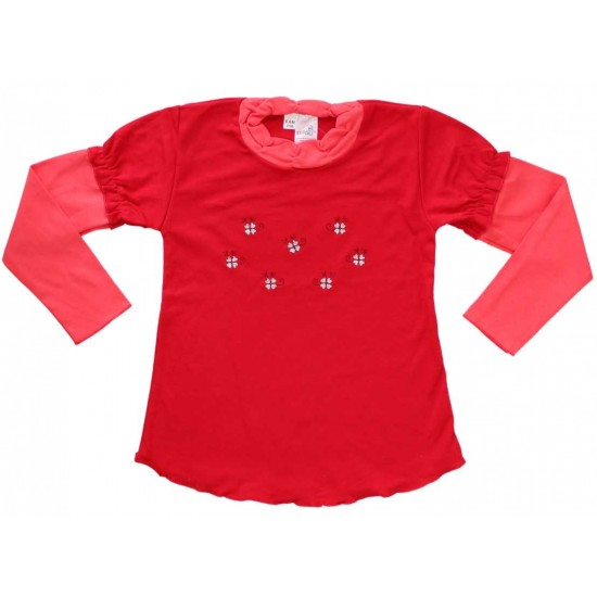 bluza bumbac fete rosie