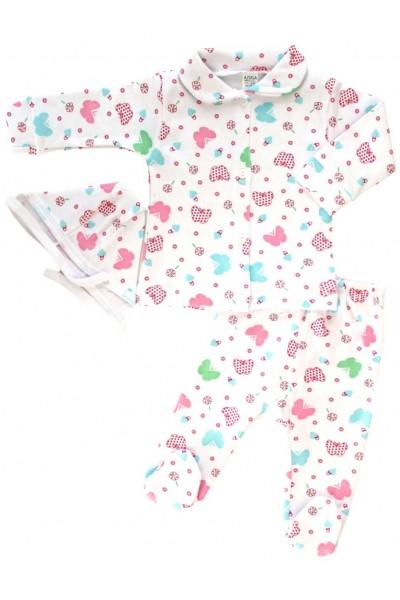 Compleu pijamale azuga fluturi