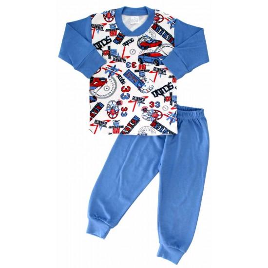 pijamale bumbac copii masini 33