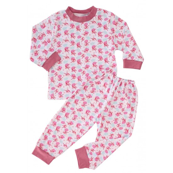 pijamale copii bumbac adonis flori roz