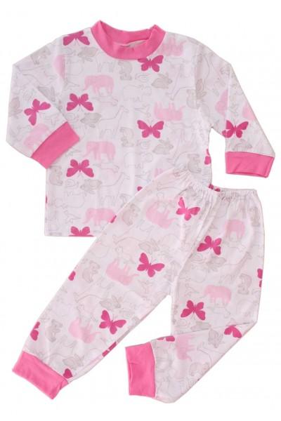 pijamale copii bumbac adonis fluturi roz
