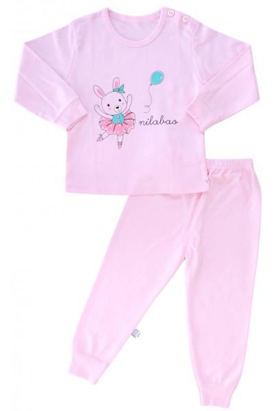 pijamale copii bumbac premium roz balerina
