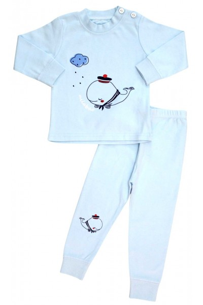 Pijamale copii bumbac premium balena