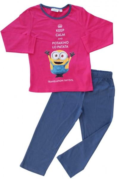 pijamale copii bumbac premium cyclame minion