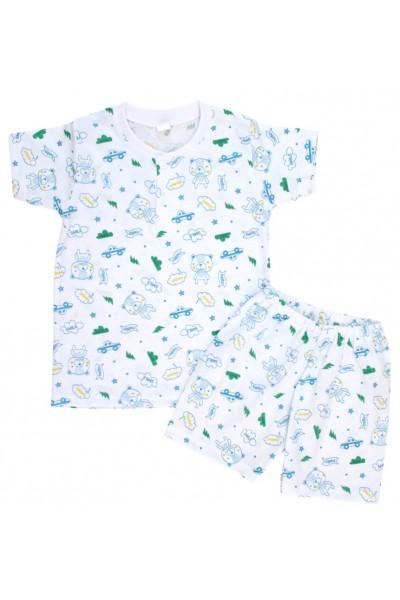 pijamale copii bumbac subtire ursuleti hello