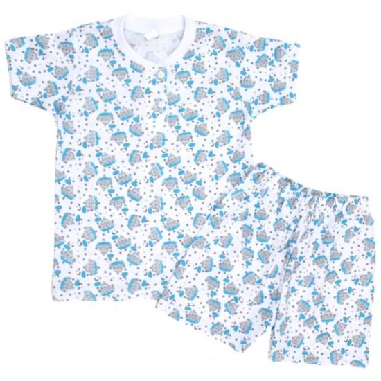 pijamale copii bumbac subtire pisoi