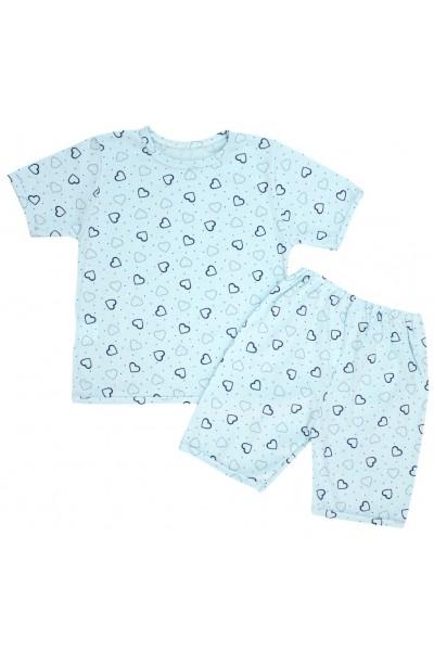 pijamale copii bumbac subtire vernil inimioare