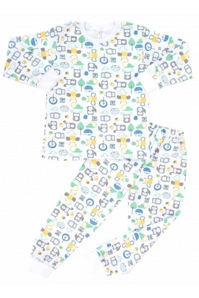 pijamale copii bumbac azuga robotei