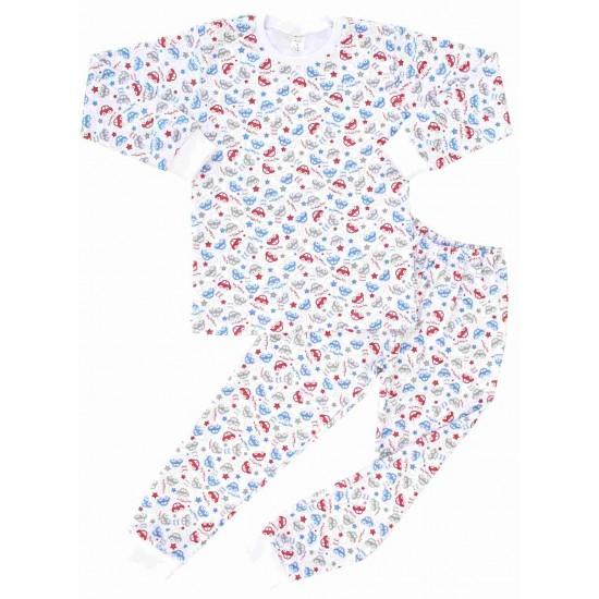 pijamale copii bumbac azuga masinute