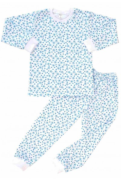pijamale copii bumbac azuga stelute albastre