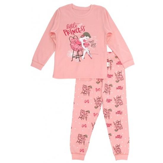 pijamale copii bumbac premium piersica little princess