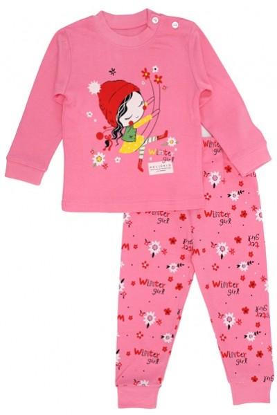 pijamale copii bumbac premium roz fetita