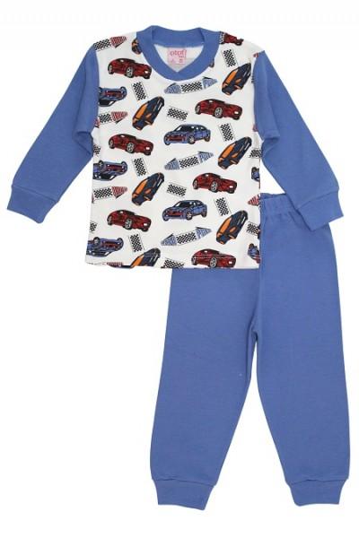 Pijamale copii bumbac masinute grand prix