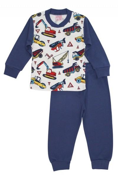 Pijamale copii bumbac bleumari autoutilitare