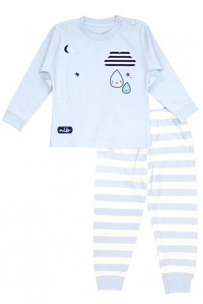 Pijamale copii bumbac premium bleu norisor nib