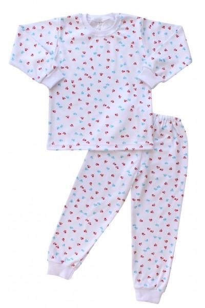 pijamale copii bumbac urme de pasi
