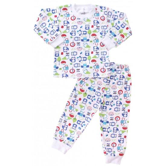 pijamale copii bumbac roboti