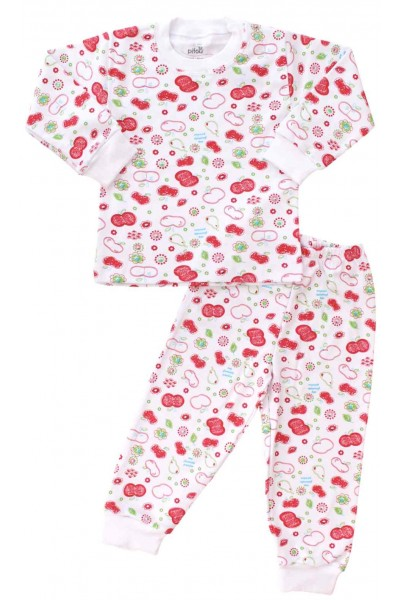 pijamale copii bumbac fructe