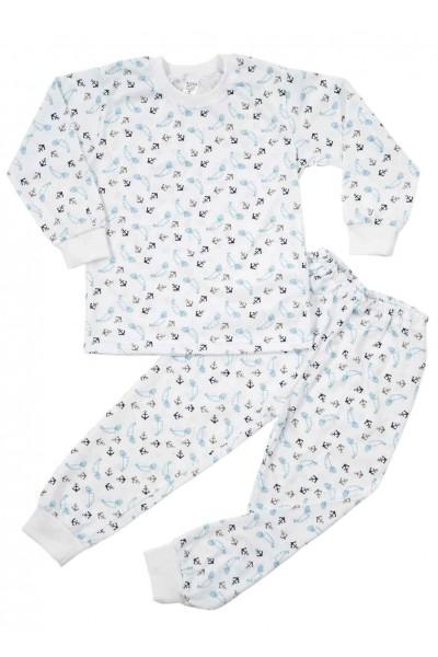 pijamale copii bumbac subtire azuga ancore