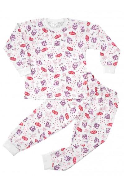 pijamale copii bumbac subtire azuga tweeti mov