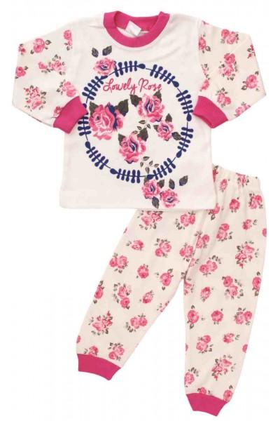 pijamale bumbac fete floricele