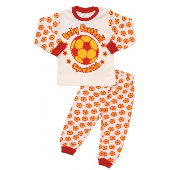 pijamale bumbac copii baby football