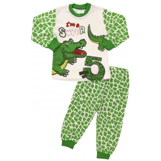 pijamale bumbac copii crocodil