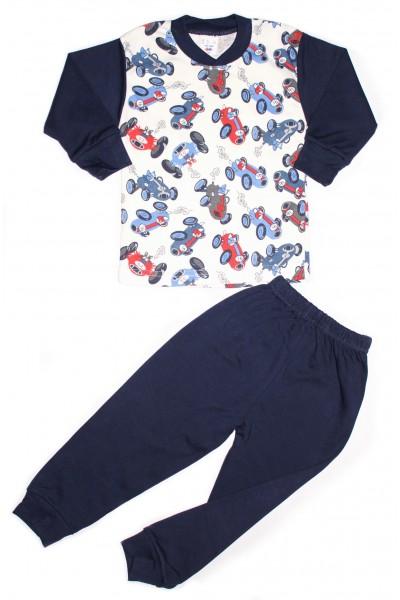 pijama copii sdm bleumarin imprimeu aeronave