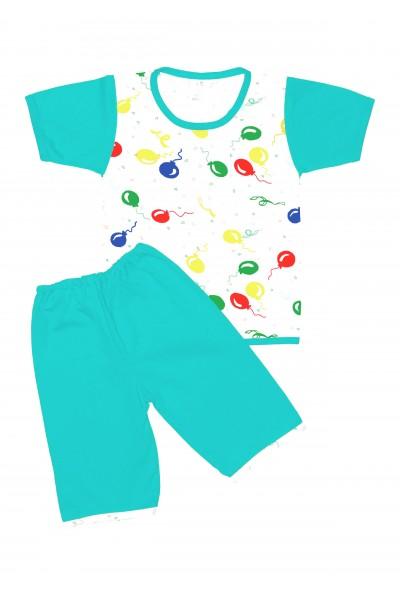 Pijamale copii vara iris vernil baloane