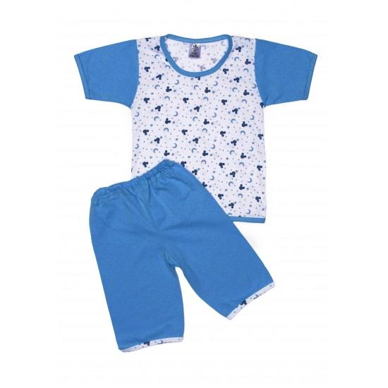 Pijama vara iris albastru semilune
