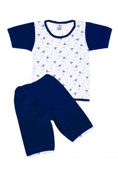 Pijama vara iris bleumarin semilune