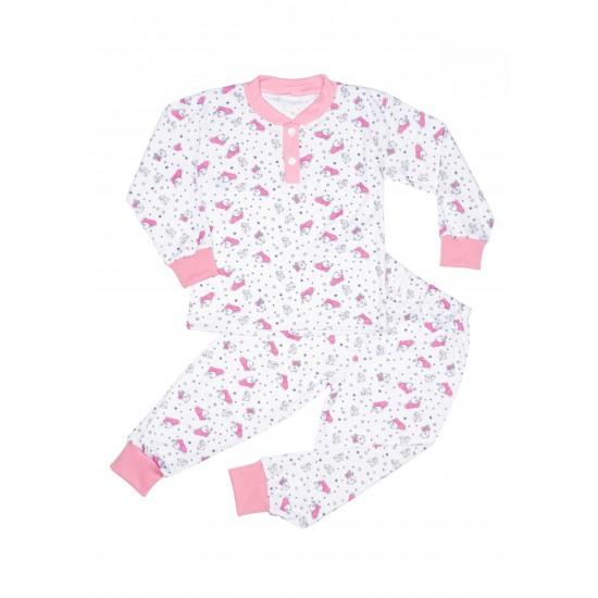 Pijamale copii ewelin ursuleti roz