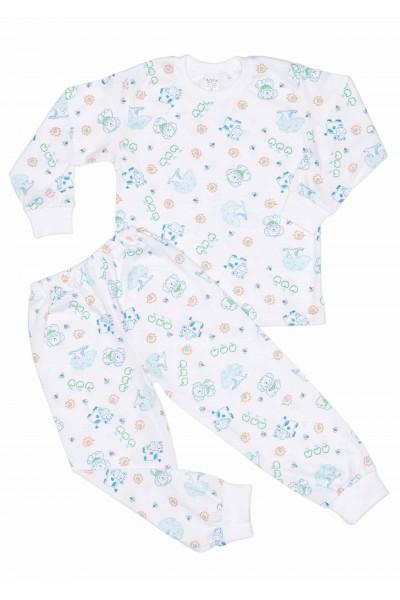 Pijamale azuga bumbac subtire ferma verde