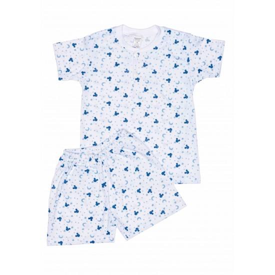 Pijamale copii vara azuga semilune