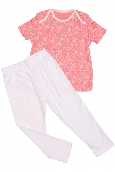 Pijamale fete bumbac disnep flori