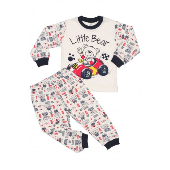 Pijamale copii bumbac imprimeu little bear
