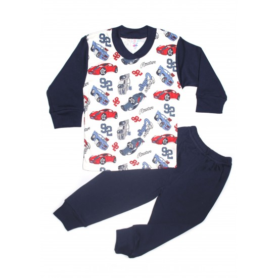 Pijama copii sdm bleumarin imprimeu masini 92